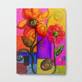 FANTASY FLOWERS Metal Print