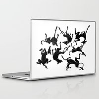 greyhound Laptop & iPad Skins featuring greyhound yoga by Matt Mawson