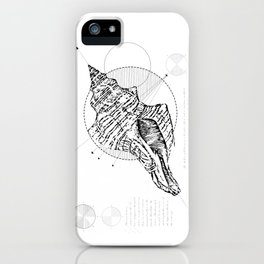 Geometry of a Charonia tritonis iPhone Case