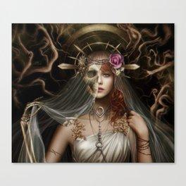 The veil of death Canvas Print