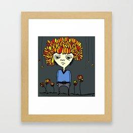 i belong with flowers Framed Art Print