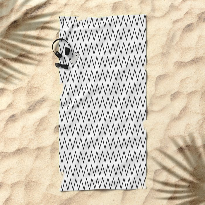 Minimalist Chevron Beach Towel