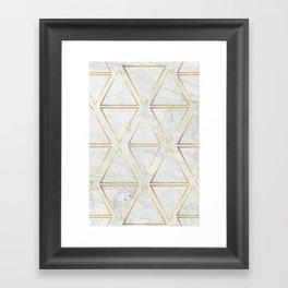 gOld rhombus Framed Art Print