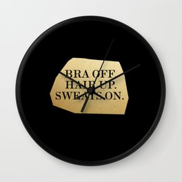 Bra Off Wall Clock