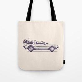 Famous Car #2 - Delorean Tote Bag