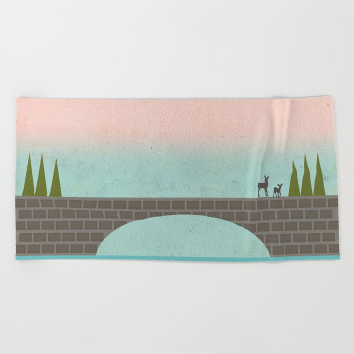 When Country Meets the Sky Beach Towel