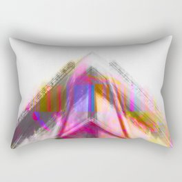 Architecture Vivid Glitch Rectangular Pillow