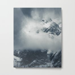 Darkness and mysterious clouds over the mountain Metal Print