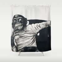 gangster Shower Curtains featuring Original Gangster by Esau Rodriguez Art