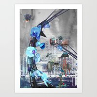 Urban growth Art Print