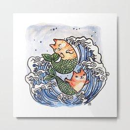 Mer-Kitties Metal Print