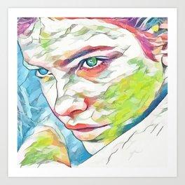 Barbara Palvin (Creative Illustration Art) Art Print