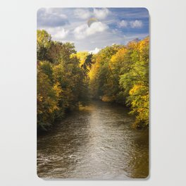 Autumn on the River Cutting Board