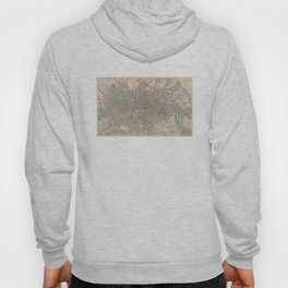 Vintage Map of London England (1843) Hoody