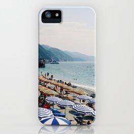 Sunbathers in Cinque Terre iPhone Case