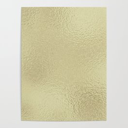 Simply Metallic in White Gold Poster
