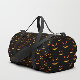 Cool scary Jack O'Lantern face Halloween pattern Duffle Bag