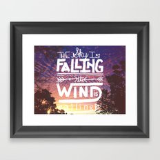The sky is falling, the wind is calling Framed Art Print