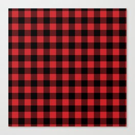 Buffalo Plaid Rustic Lumberjack Buffalo Check Pattern Canvas Print