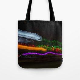 Night Lights LA Orange & Purple Tote Bag