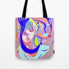 pink + blue Tote Bag