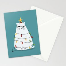 Grumpy Christmas Cat Stationery Cards