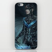nightwing iPhone & iPod Skins featuring Nightwing by Veradia