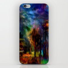 Forêt Nuit iPhone & iPod Skin