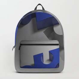 Blue puzzle near its hole Backpack