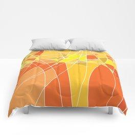 Abstract geometric orange pattern, vector illustration Comforters