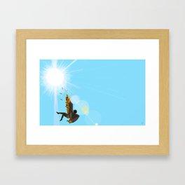 Too Close Framed Art Print