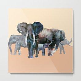 The Elefant Squad Metal Print