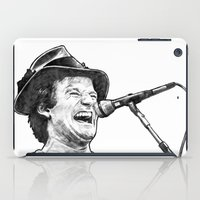 robin williams iPad Cases featuring williams by BzPortraits