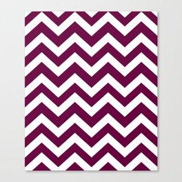 Tyrian purple - violet color -  Zigzag Chevron Pattern Canvas Print