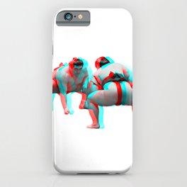 3D Sumo Wrestlers iPhone Case