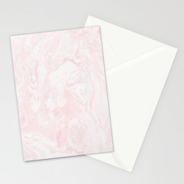 Pink Rose Gold Marble Print II Stationery Cards