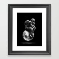 Space Thinker Framed Art Print