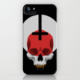 Gold Grilled Skull iPhone Case