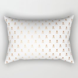 SKULLS PATTERN - ROSE GOLD - LARGE Rectangular Pillow