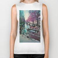 amsterdam Biker Tanks featuring amsterdam by Richard PJ Lambert