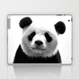 Black and white panda portrait Laptop & iPad Skin