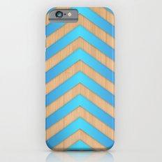 turquoise chevron Slim Case iPhone 6