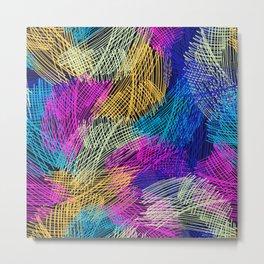 Bright  seamless pattern brush stripped Metal Print
