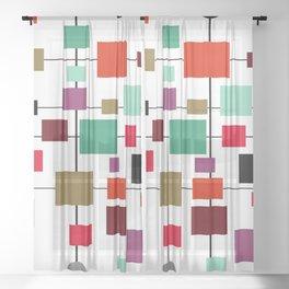 Mid-Century Modern Art 1.3.4 Sheer Curtain