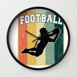 Vintage Retro Old School Football Wall Clock