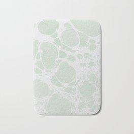 Ebru Paper Marbling Pastel Green Paint Spill Bubbles Bath Mat