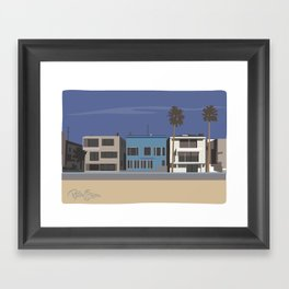 Strand homes Framed Art Print