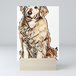 I love my dogs Mini Art Print