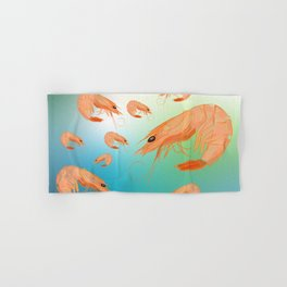 Shrimp underwater Hand & Bath Towel