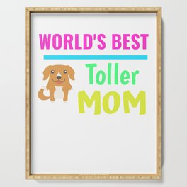 World's Best Toller Mom Serving Tray